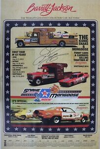 Don The Snake Prudhomme Signed Hot Wheels NHRA Funny Car Dragster Poster