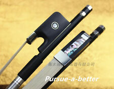 1pcs New Double Bass Bow Black Carbon Fiber Stick Ebony Frog French style 3/4