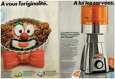 Publicité Advertising 1978 (2 pages) Le Robot Combiné de Cuisine Steca