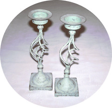 Two WAX LYRICAL Candlesticks - Height Approx 16 cm 10""