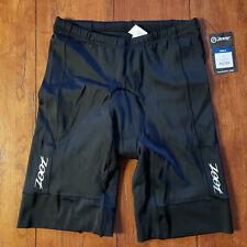 "ZOOT Mens XL Tri Shorts Core Black 9"" Padded Swim Bike Run Triathlon XLarge"