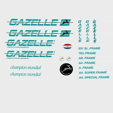 Gazelle 1980s Champion Mondial Bicycle Decals, Stickers n.890