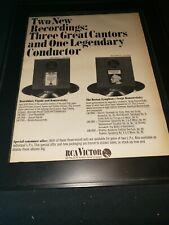 Serge Kousaevitzky Rare Original Rca Records 1966 Promo Poster Ad Framed!