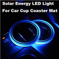 1x Solar Cup Pad Car accessories LED Light Cover Interior Decoration Light