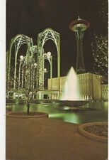 Federal Science Pavilion & Space Needle Seattle Washington USA Old Postcard 248a