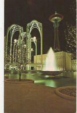 Federal Science Pavilion & Space Needle Seattle Washington USA Old Postcard 248a