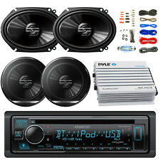 "Kenwood Car Bluetooth CD Radio, 6x8"" and 6.5"" Speakers, Bluetooth 400W Amplifier"