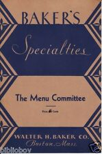 1931 Baker's Plays The Menu Committee by B.E. Palmer , Vintage plays ,theater