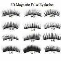 3D Magnetic Eyelashes Reusable Triple Magnet Long False Eye Lashes Extension UK-