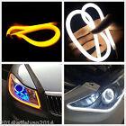 2x 60cm Car Soft Dual Color Tube LED Strip Switchback Headlight DRL Signal Light