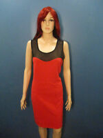plus size 3X red and black mesh top stretchy dress by FOREVER 21