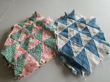 Lot 17 vintage flying geese quilt blocks