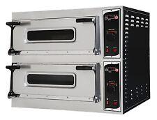 Pizzaofen Elektroofen Flammkuchenofen Brotbackofen für 2 x 6 Pizzen Gastlando