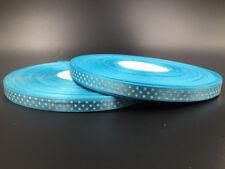 New hot 10 Yards 3/8 10mm Polka Dot Ribbon Satin Craft Supplies Sky blue