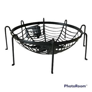 Halloween Spider Web Legs Candy Bowl Basket Party Black