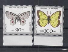 BRD Briefmarken 1991 Schmetterlinge Mi.Nr.1517+18** postfrisch Rand
