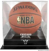 Chicago Bulls Black Base Team Logo Basketball Display Case - Fanatics