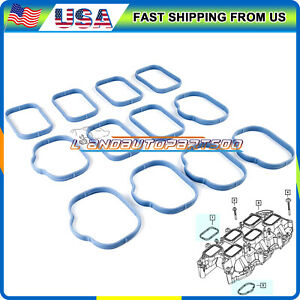 Intake Manifold Upper & Lower Gasket Set Fits Chrysler Dodge Jeep 3.2L 3.6L DOHC
