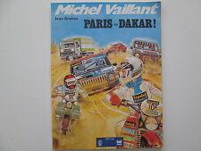 MICHEL VAILLANT PARIS DAKAR BE/TBE BROCHE PUBLICITAIRE ELF ANTAR