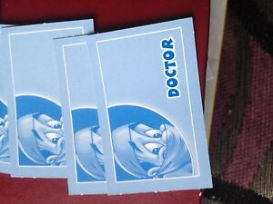 Operation Game, Complete Set Of Doctor Cards. Genuine MB Games Parts.