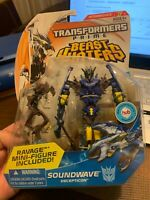 Transformers Prime Beast Hunters Deluxe Class Soundwave on NEW and Sealed LQQK!!