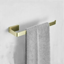 Wall Mounted Bathroom Brushed Gold SUS304 Towel Ring Single Rod Towel Holder