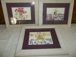 3 - TRACY TAYLOR  WATERCOLOR FRAMED PRINTS $20 for all 3