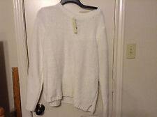 New Sonoma Life Style XL White Chenelle long sleeve crew pullover sweater top