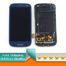 Blue for Samsung Galaxy S3 i9300 i9305 LCD Touch Screen Replacement with Frame