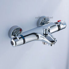 Brass Wall Mounted Thermostatic Shower Faucet Water Mixing Valve Tap 1561