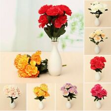 7 Heads Artificial Silk Carnation Flower Bouquet Home Party Wedding Room Decor