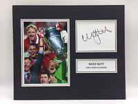 Raro Nicky Butt Manchester United Foto Firmada Pantalla+COA Autógrafo Man Utd