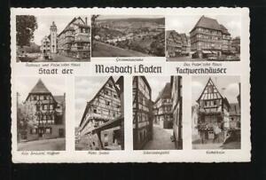636* AK Mosbach i. Baden - Mehrmotivkarte - Fachwerkhäuser (50er Jahre)