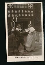 Cheshire MORETON Old Hall Pageant 1914 RP PPC