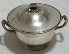 Antique Berndorf Metalware Fabrik Austrian Silverplate Sugar Bowl Old Mark