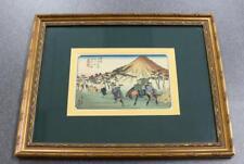 Ando Hiroshige 69 Stations Of The Kisokaido #21 Oiwake (Eisen) Woodblock Print