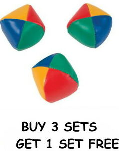 """SET OF 3 LEARN TO JUGGLE BALLS JUGGLING BALL WITH INSTRUCTIONS 2.25"""" FREE SHIP!!"""