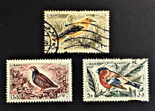 A set of used stamps BIRDS OF LEBANON 1965