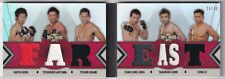 """2013 Triple Threads UFC Relic Double Combos Book Card  """"Far East"""" #ed 20/36"""