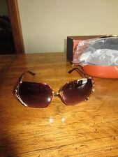NEW Missoni MI72802 Rosegold Tortoise Sunglasses Oversized 70s Chic Boho
