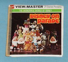 vintage DISNEY ON PARADE VIEW-MASTER REELS w/ booklet