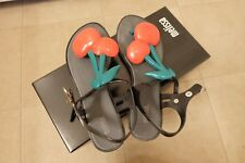Pre-owned Melissa red cherry black sandals, size 6