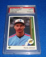 RANDY JOHNSON (RC) (HOF) PSA 9 1989 Upper Deck  Card #25 Expos