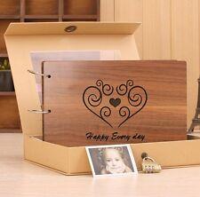10 X 7 in New General Brown Wood Cover Ring Binder DIY Photo Album Book Storage