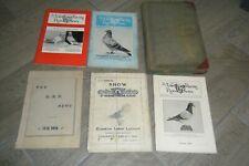 Large Lot Vintage Racing Homing Pigeon Books Magazines