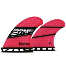 Futures Stretch 1 Honeycomb Quad Fin Set in Pink Black