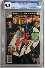 CGC 9.8 SPIDER-WOMAN #1 Marvel Comics 1978 New Origin Jessica Drew White Pages