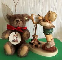 LARGE HUMMEL LITTLE MAESTRO WITH STEIFF BEAR GIFT BOXED LIMITED EDITION 2000
