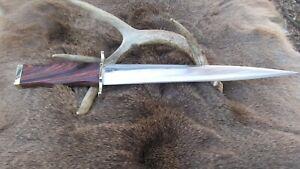 Extra Long Hand Made Arkansas Toothpick Knife, 1095 High Carbon Steel Blade.