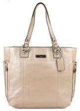 New Coach Designer Gallery Putty Beige Tan Leather N/S Zip Tote Bag Purse - $378